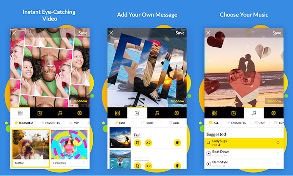 MoShow is best Photo Video Maker Apps for Android.