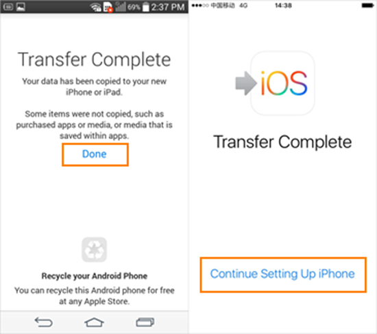 Transfer Contacts from Android to iPhone via Move to iOS