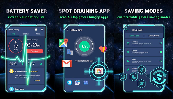 Power Battery is one of the best Battery Saver Apps for Android.