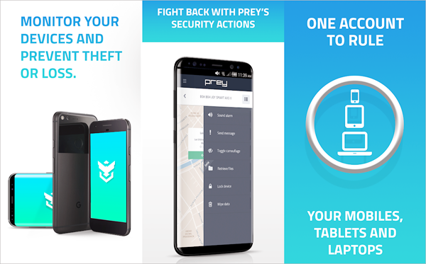 Prey Anti-Theft is best Anti-Theft Apps for Android.