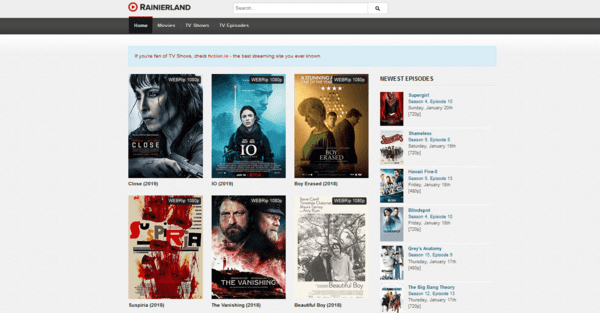 Rainierland website offers the best collection of movies and TV shows to its users exclusively for free.
