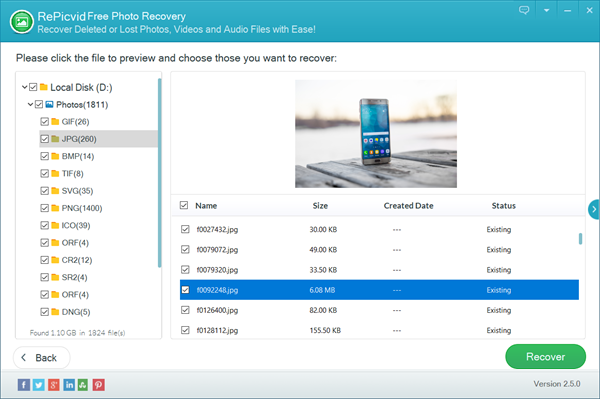 RePicvid is Best Free File Recovery Software for Photos, Videos and Audio.