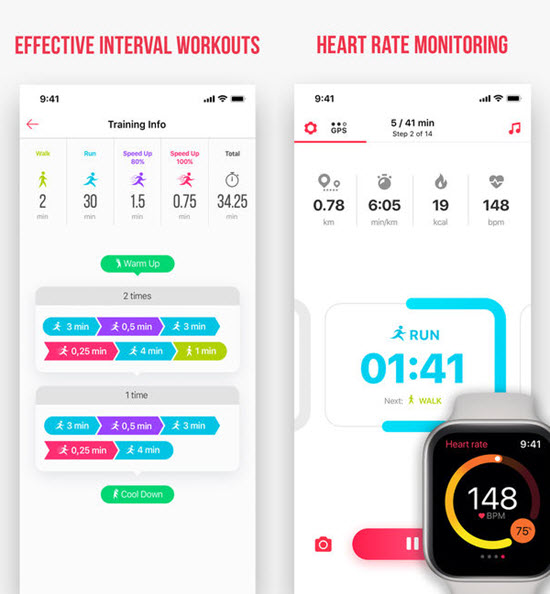 Running for Weight Loss is best Running Apps For iPhone & Apple Watch to Keep Your Fitness.
