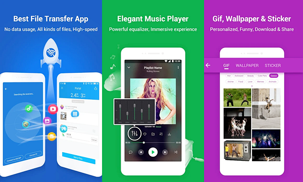 Shareit is best Android File Transfer Apps to Transfer Android Data.