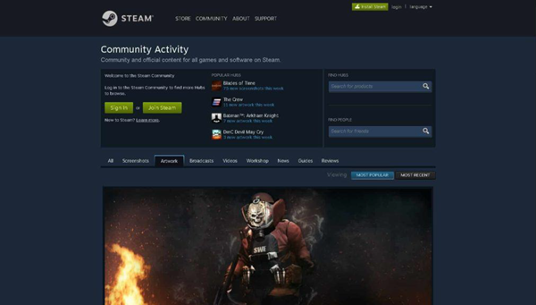 Steam is one of the best PC Game Download Websites.