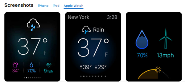 Yahoo Weather is best Weather Apps for Your Apple Watch.