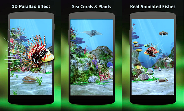 3D Aquarium Live Wallpaper HD is best Free 3D & HD Live Wallpaper Apps for Android.