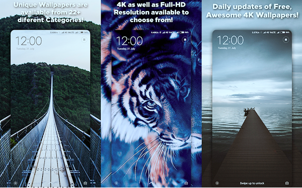 4K Wallpapers is best Free 3D & HD Live Wallpaper Apps for Android.