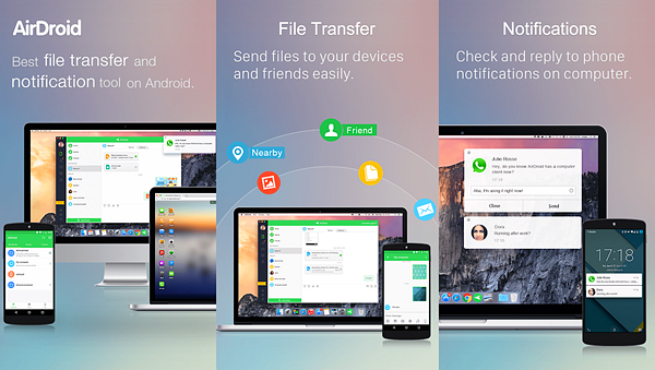 AirDroid App is Best Photo Transfer Apps for Android Users.