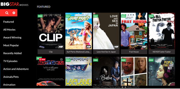BIGSTAR Movies is one of the best Coke and Popcorn Streaming Website.