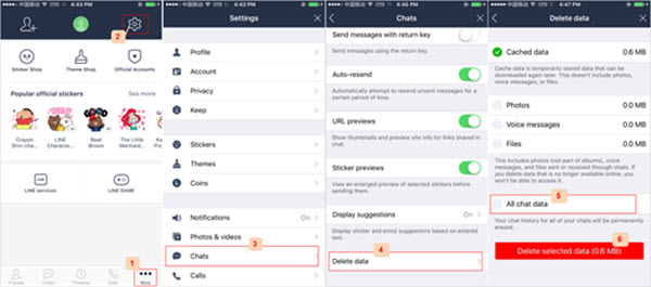 How to Delete All Line Chat History from iPhone