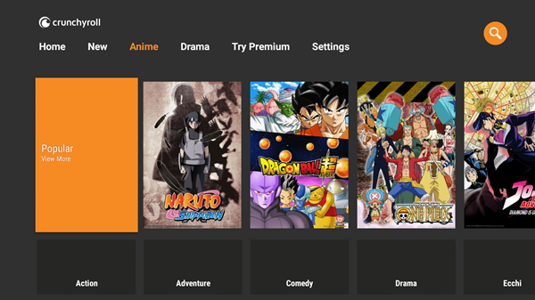 Crunchyroll is one of the best Coke and Popcorn Streaming Website.
