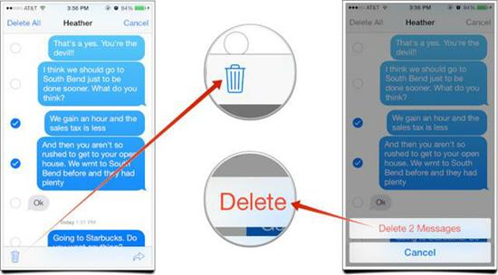 Delete messages аnd close thе application