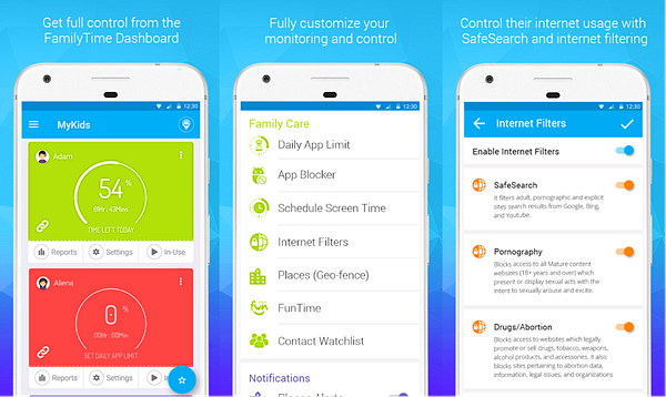 FamilyTime Parental Control is best Free Parental Control Apps for Android.