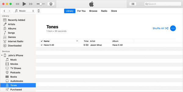 Import Downloaded Ringtone to iPhone via iTunes
