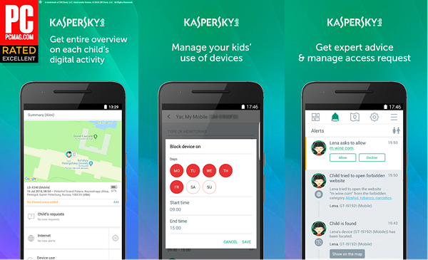 Kaspersky SafeKids is best Free Parental Control Apps for Android.