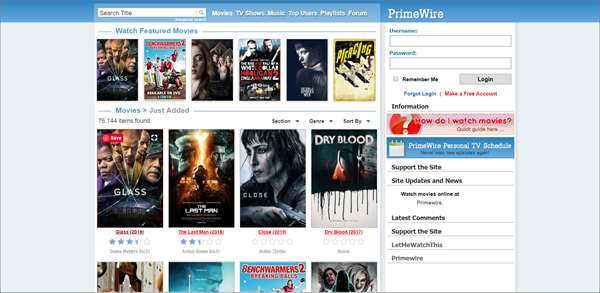 PrimeWire is one of the best Coke and Popcorn Streaming Website.
