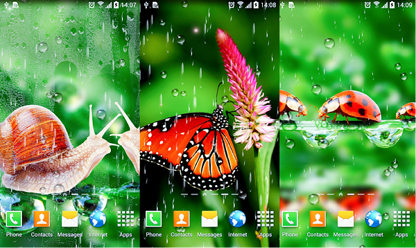 Rain Live Wallpaper is best Free 3D & HD Live Wallpaper Apps for Android.