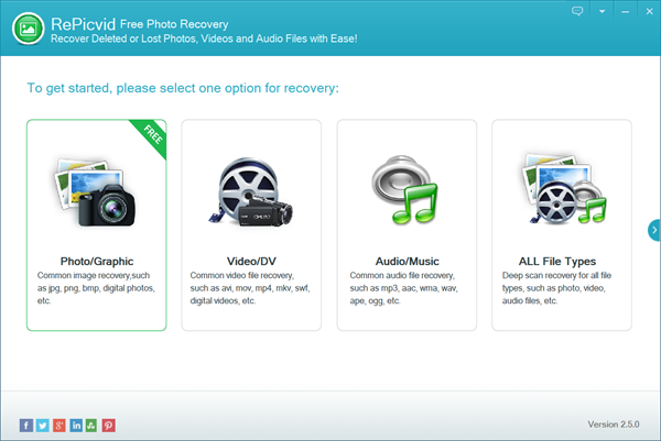 Steps to Recover Lost Videos with RePicvid free photo reoccovery.
