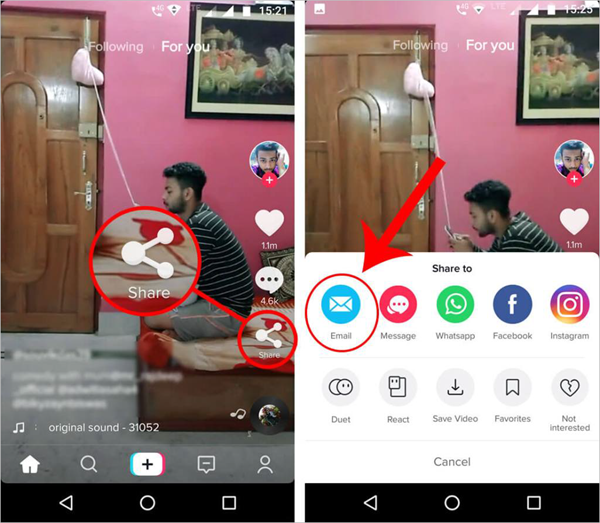 Using Email to Download TikTok Videos