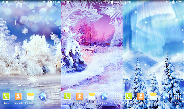 Snowfall Live Wallpaper is best Free 3D & HD Live Wallpaper Apps for Android.