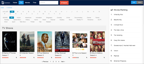 TV Series Net is one of the best Coke and Popcorn Streaming Website.