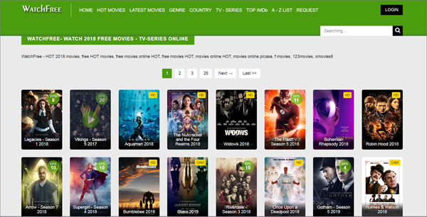 WatchFree is one of the best Coke and Popcorn Streaming Website.