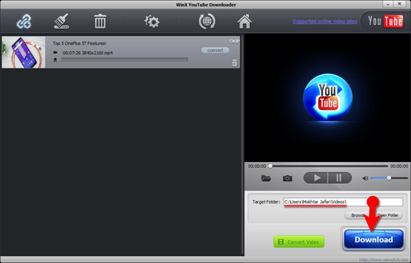 Using WinX YouTube Downloader to Download Instagram Videos.