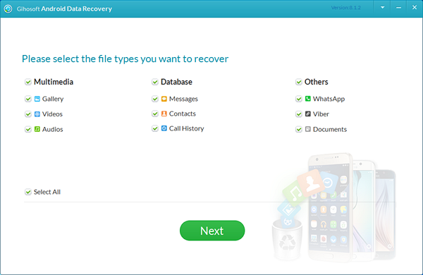 Powerful Android data recovery software that can help you recover deleted Snapchat photos from your Android device quickly.