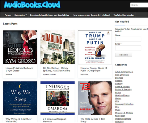 AudioBooks.Cloud is one of the top best Alternative Websites to AudioBook Bay.