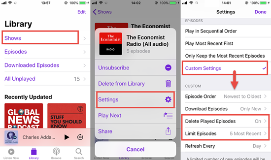 How to Auto-delete Podcasts on iPhone