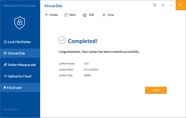 Completed this virtual disk to Encrypt Photos Before Uploading to Cloud.
