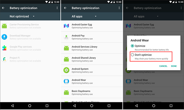 Disabled battery optimization to Delayed Notifications on Android.