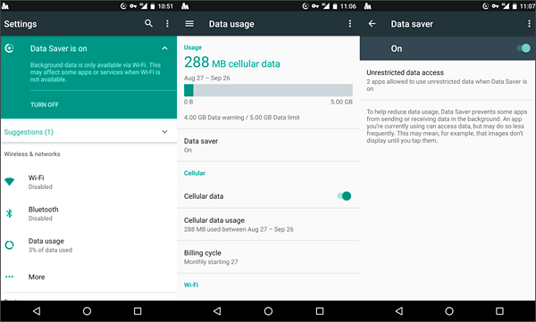 Allow Background Data Usage to Delayed Notifications on Android.