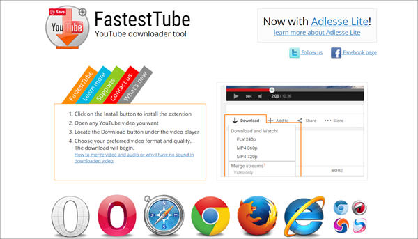Fastest Tube is one of the best KeepVid Alternative Websites to Download Videos.