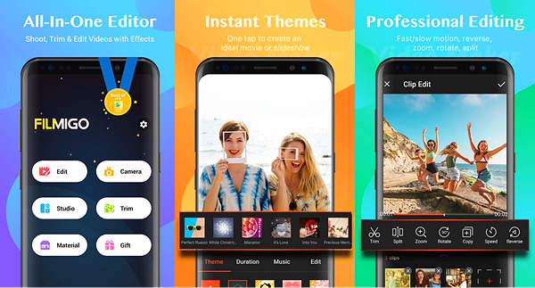 Filmigo Video Maker is one of the best Free Video Editing Apps for Android.