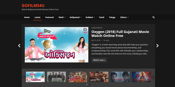 GoFilms4u is one of the top best Alternative Websites to TamilGun in 2019.