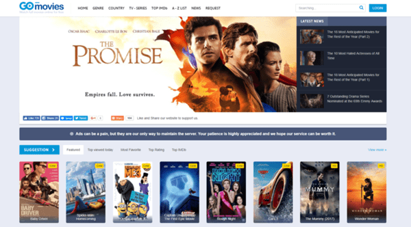 GoMovies is undoubtedly the best possible alternate of FMovies website.