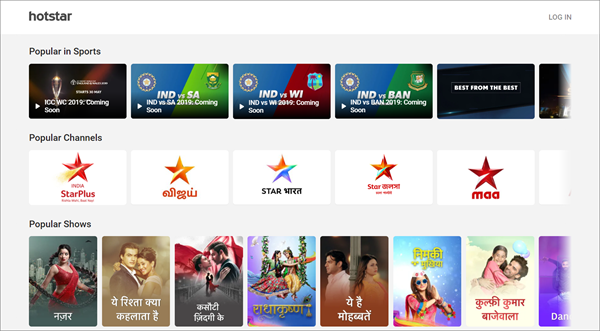 Hotstar is one of the top best Alternative Websites to TamilGun in 2019.