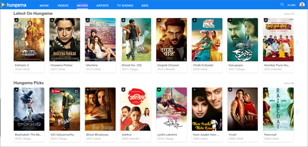 Hungama is one of the top best Alternative Websites to TamilGun in 2019.