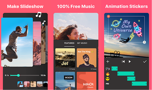 InShot is one of the best Free Video Editing Apps for Android.
