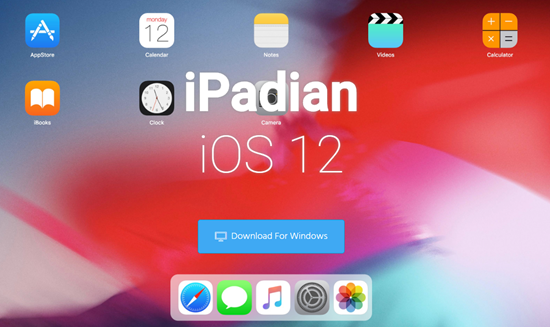 iPadian is Top 3 iOS Emulators for Windlows PC.