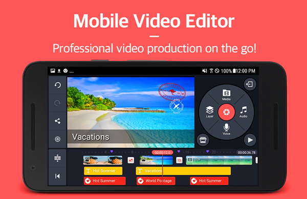 KineMaster is one of the best Free Video Editing Apps for Android.