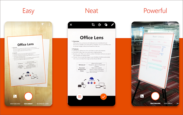 Microsoft Office Lens - PDF Scanner is one of the best Free Document Scanner Apps for Android.