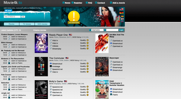 Movie4K is another very awesome and impressive choice as an alternate of fmovies website for the users.