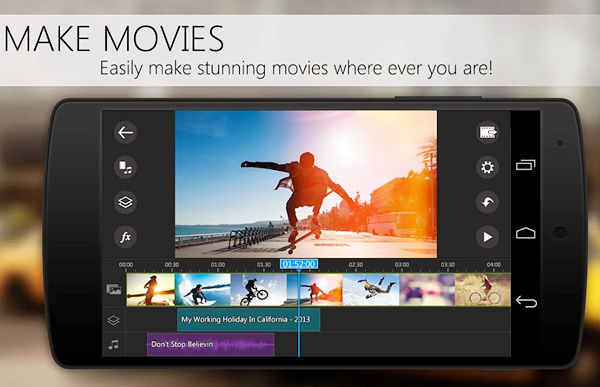 PowerDirector is one of the best Free Video Editing Apps for Android.