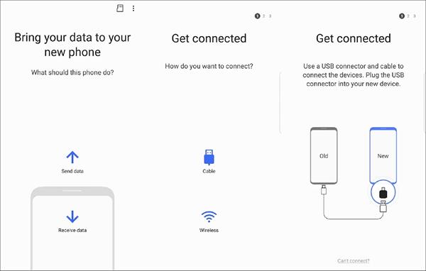 Samsung Smart Switch - Samsung to Samsung Data Transfer