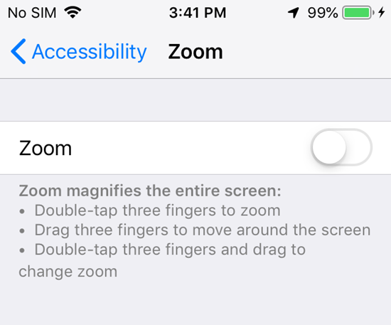 Switch off Your Phone's Zoom to Fix Dim or Dark Screen