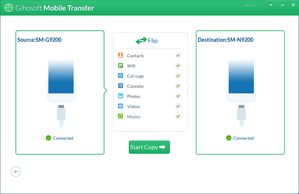 Transfer Data from Samsung to Samsung Galaxy S10/Fold with Mobile Transfer software.
