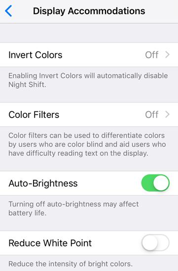 Turn off the Auto-Brightness Fix Dim or Dark Screen.